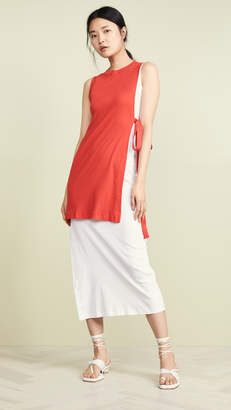 Rosetta Getty Blocked Split Dress