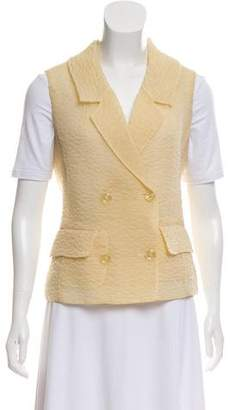 Rochas Silk Button-Up Vest