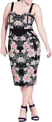 City Chic Impressions Floral Body-Con Dress