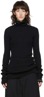 Y's Ys Black M-Slit Turtleneck