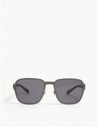 Bvlgari Ladies Grey Classic Bv5046Tk Square-Frame Sunglasses