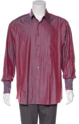 Gucci Point Collar Button-Up Shirt