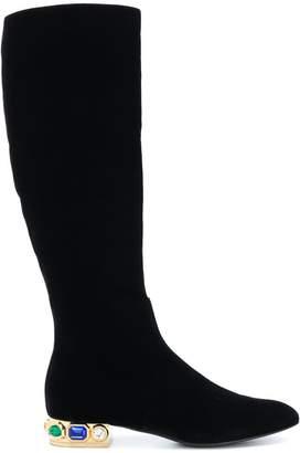 b58bdd55d3d7 Womens Black Heeled Calf Boots - ShopStyle UK