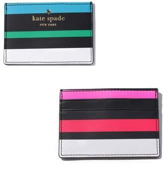Kate Spade (ケイト スペード ニューヨーク) - 【11%OFF】ケイトスペードニューヨークカードケース PWRU5739ユニセックスマルチF【kate spade new york】【タイムセール開催中】