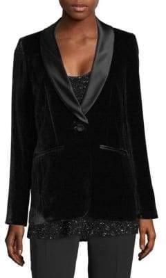 Lafayette 148 New York Classic Velvet Tuxedo Jacket