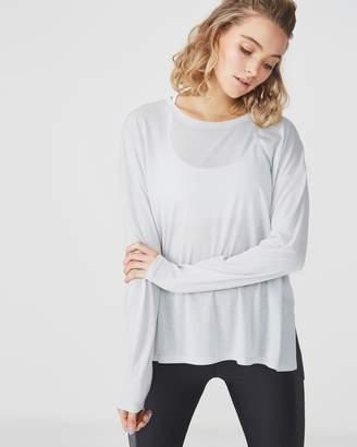 Split Hem Lightweight Long Sleeve Top