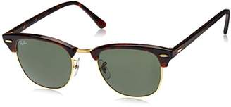 Ray-Ban Clubmaster Metallic RB 3016 Wayfarer Sunglasses, Brown (Braun RB 3016 W0366)