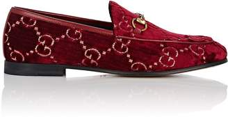 Gucci Women's Bit-Detail Velvet Loafers