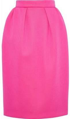 DELPOZO Pleated Neoprene Pencil Skirt