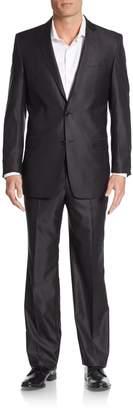 Versace Slim-Fit Tonal Striped Wool-Blend Suit