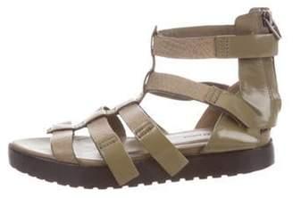 Alexander Wang Leather Gladiator Sandals Olive Leather Gladiator Sandals