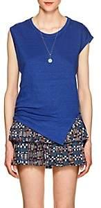 Etoile Isabel Marant WOMEN'S KELLER LINEN SLEEVELESS T-SHIRT - BLUE SIZE S