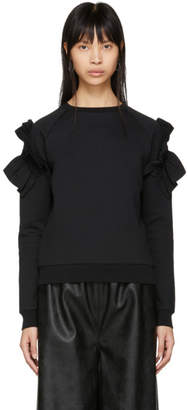 Stella McCartney Black Shoulder Ruffle Sweatshirt