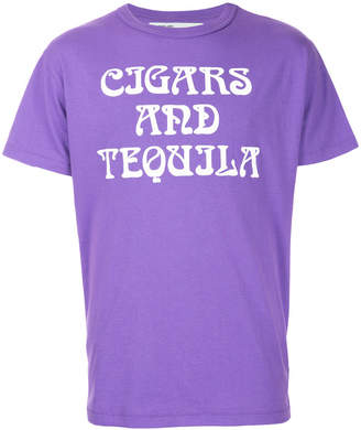 Off-White Art Dad Cigars and Tequila T-shirt