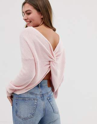 Hollister supersoft sweater with wrap back detail