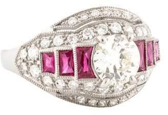 d Collection Sophia Platinum Diamond Cocktail Ring red Sophia Platinum Diamond Cocktail Ring