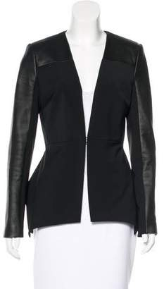 Yigal Azrouel Leather-Trimmed Fitted Jacket