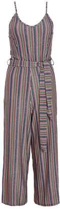 Quiz Pink And Blue Glitter Stripe Culotte Jumpsuit