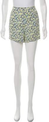 Equipment Silk Floral Print Mini Shorts