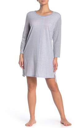 Carole Hochman Striped Long Sleeve Nightgown