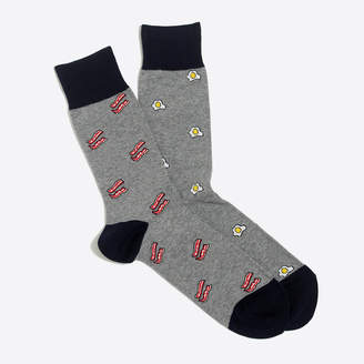 J.Crew Factory Eggs and bacon mismatched socks