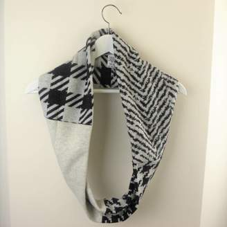 a30b09f9886b2 Re-Creation for the Nation Women s Monochrome And Grey Fabric Infinity  Scarves