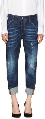 Dsquared2 Indigo Work Wear Jeans $550 thestylecure.com