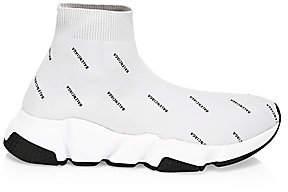 Balenciaga Women's Speed Logo-Print Sock Sneakers