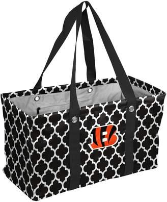 Logo Brand Cincinnati Bengals Quatrefoil Picnic Caddy Tote