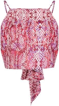 Glamorous Womens **Tie Back Cami By Raspberry