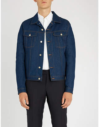 Ami Alexandre Mattiussi Logo-appliquéd denim jacket