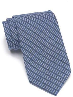 Calvin Klein Indigo Gingham Tie