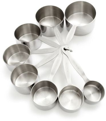 Sur La Table Stainless Steel Measuring Cups, Set of Eight