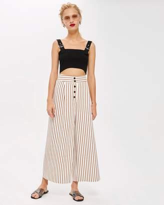 Topshop Stripe Crop Wide Pants