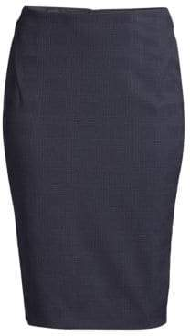 BOSS Vilula Check Suiting Pencil Skirt