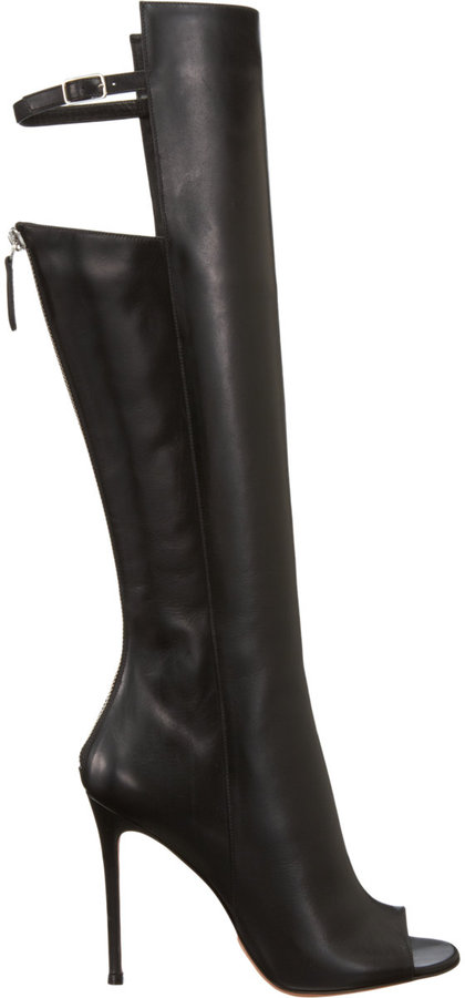 Gianvito Rossi Back Buckle Strap Knee Boot