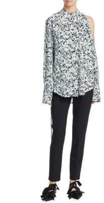 Proenza Schouler Floral Button-Front Blouse