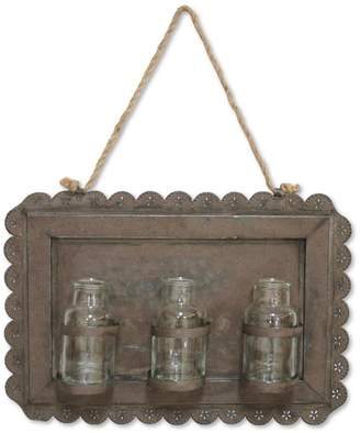 """Melrose 17"""" New Romance Rustic Hanging Wall Decoration with Glass Jars"""