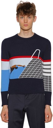 Thom Browne Intarsia Stripes Cashmere Sweater