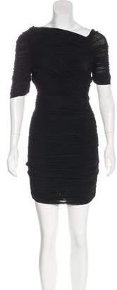 Halston Ruched Mini Dress