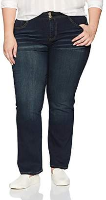 Angels Forever Young Women's Plus Size Curvy Bootcut Jeans