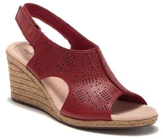 7c7939d8287 Clarks Red Cushioned Footbed Women s Sandals - ShopStyle