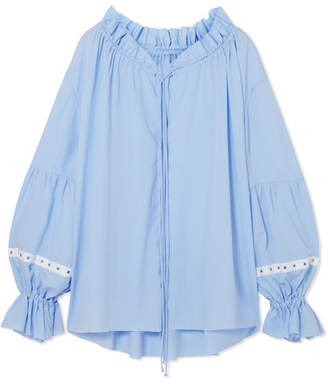 Marques Almeida Marques' Almeida - Gathered Tencel Top - Sky blue