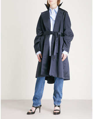 Y/Project Double-breasted satin coat