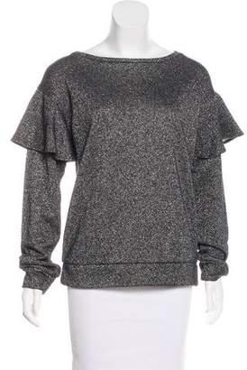 Sanctuary Metallic Knit Sweatshirt