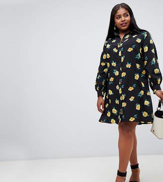 Fashion Union Plus shirt dress in floral