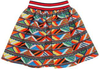 Stella Jean Maasai Print Waxed Cotton Skirt