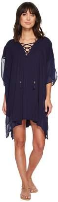 Tommy Bahama Cotton Modal Lace-Up Tunic Cover-Up Women's Swimwear
