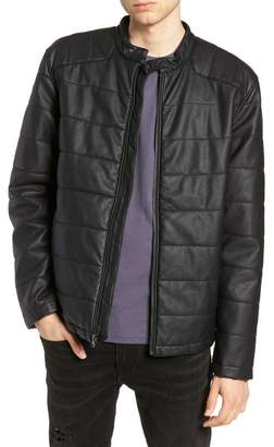 The Rail Faux Leather Quilted Moto Jacket