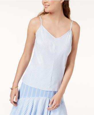 One Hart Juniors' Striped Adjustable Camisole, Created for Macy's